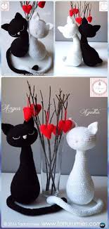 Free Crochet Cat Patterns Delectable Crochet Amigurumi Halloween Black Cat Patterns FREE BeesDIY