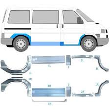 vw transporter t4 swb mwb 90 03 repair panel doorstep sill wing set of