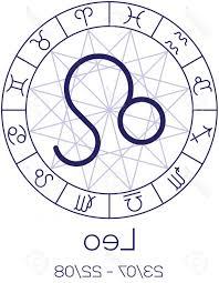 Photostock Vector Zodiac Sign Leo Astrological Symbol In