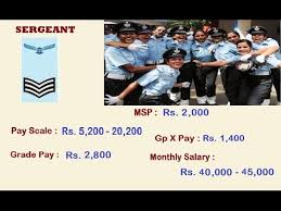 Airman Pay Chart 2016 Indian Air Force Ranks Monthly Salary Ground Staff Entry