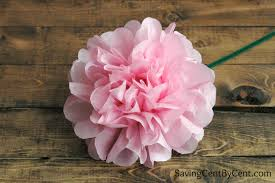 Tissue Paper Flower How To Make Easy Tissue Paper Flowers Page 6 Of 6 Saving Cent By