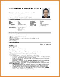 Sample Curriculum Vitae For Job Application Curriculum Vitae Format For Job Application Business Letter