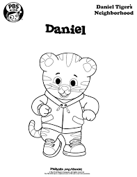 Daniel Tiger Coloring Page Coloring Pages