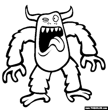 Monster Coloring Pages Only Coloring Pages