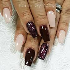 Light Maroon Nails Burgundy Sparkle And Light Nail Designs Gel Nails