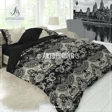 nicole miller paisley comforter bohemian paisley bedding black tan duvet cover set comforter bedroom decor grey