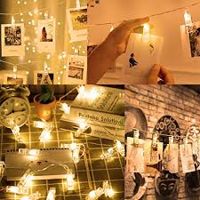 indoor string lighting. 50 LED Photo Clips String Lights, Poscoverge Christmas Indoor Lights For Hanging Photos Pictures Cards And Memos, Ideal Gift Dorms Bedroom Lighting I