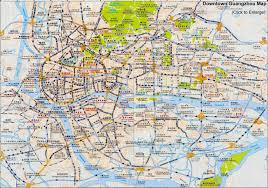 guangzhou maps downtown layout metro attractions