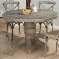 jofran round solid oak dining table in burnt grey 856 48 kit