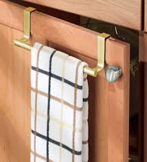 kitchen dish towel holder. Simple Towel Interdesign Forma OverTheCabinet Pearl Gold Kitchen Dish Towel Bar Holder To N