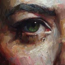 eyes portrait oil painting