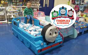 GIANT Thomas and Friends Kids Toy Train Bed HUGE Thomas The Tank ...