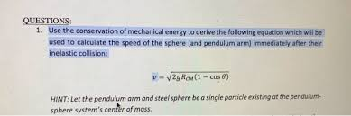 1 use the conservation of mechanical e