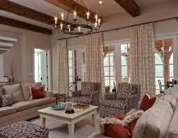 choosing rustic living room. Vintage Chandelier Puts Crowning Touch On Soothing Living Room Choosing Rustic G