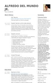 Example Resume For English Teacher In China  Resume  Ixiplay Free     Sample Teacher Resume How To Create An Esl Teacher Resume That Will Get You  The Job