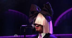 sia chandelier ellen show unmasked singer seen minus trademark wig and she unmasked singer seen minus