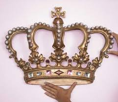 image of empress princess crown 3d wall art decor design
