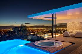 View modern house lights Kitchen This Modern South African House Has Stunning City Views And Swimming Pool And Spa As Contemporist This Concrete House Was Designed With Amazing Views Overlooking The
