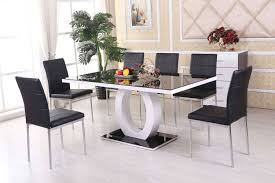 round extending dining table sets luxury black high gloss dining