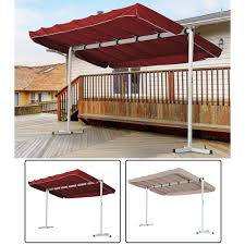 outdoor free standing awning patio canopy gazebo shelter sun shade rain cover outsunny