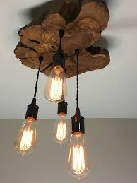 live edge olive wood light fixture