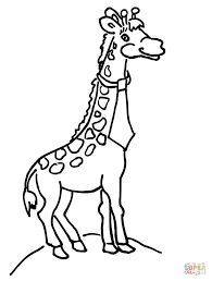 Small Picture Giraffe with Necktie coloring page Free Printable Coloring Pages