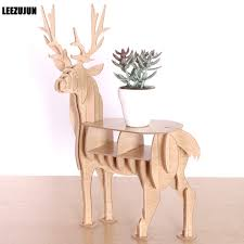 Wooden Display Stands For Figurines Aliexpress Buy Wooden Elk shape Decorative rack Plant Stand 47