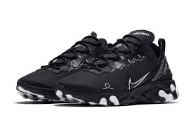 Nike React Element 55 Black Schematic Release Date Sbd
