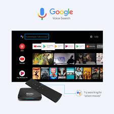 Android Tivi Box Có Điều Khiển Hỗ Trợ Tìm Kiếm Bằng Giọng Nói - Thế Giới  Android TV