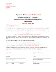 guideline a sample reasonable assurance letter letter of reasonable assurance