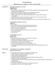 Salesforce Analyst Resume Samples Velvet Jobs