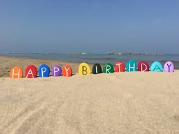 Foap Com Happy Birthday On Colored Stones With Beach