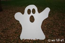 ghost bean bag toss yard game