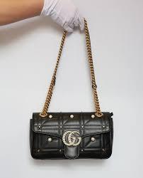 Gg Marmont Matelasse Shoulder Bag