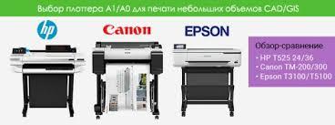 Обзор-сравнение <b>плоттеров HP T525</b>, Canon TM-200/300, Epson ...