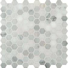 black and white hexagon tile floor. Interesting White Greecian White  For Black And Hexagon Tile Floor X