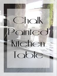 Chalk Painting A Kitchen Table Rustic Refined
