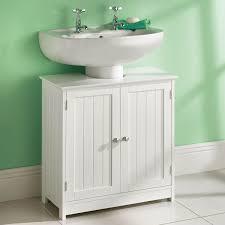 White Wood Bathroom Cabinet