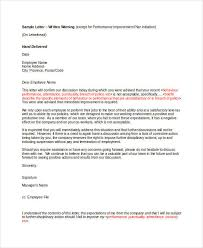 How To Write Up A Written Warning For An Employee 11 Employee Warning Letter Template Pdf Doc Free Premium