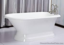 61 rolled rim cast iron pedestal tub clic clawfoot