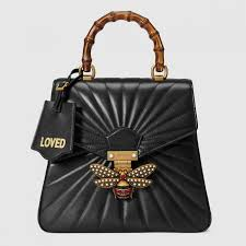 womens gucci bags queen margaret quilted leather backpack black