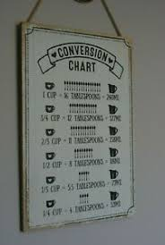 Kitchen Conversion Chart Decor Details About Vintage Kitchen Conversion Chart Sign Plaque Cup Tbsp Ml Shabby Chic Decor