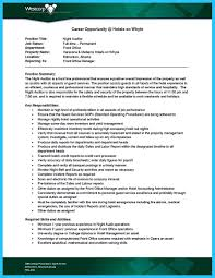 Wonderful Resume For Night Auditor Position Contemporary Entry