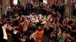 decoration: Breathtaking Peoples Enjoy For Great Gatsby Party Decorations  With Beautiful Lightings Completed With Beads