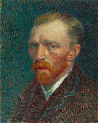 vincent van gogh a head and shoulders portrait of a thirty something man with a red beard