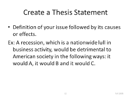 cause and effect essay ppt video online 12 create a thesis statement definition of your issue followed by its causes or effects