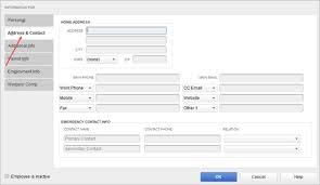 employee contact info set up a new employee in quickbooks desktop payroll quickbooks