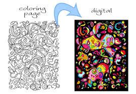 coloring book art 1