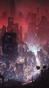 750x1334 Cyberpunk City Night View 4k ...