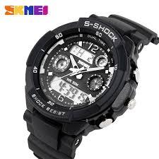 s shock dual time led watch waterproof woodeal skmei luxury brand men sports watches digital led